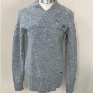 Gray Mock Neck SMARTWOOL Sweater Size XL